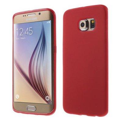Flexibelt Röd Skal till Samsung Galaxy S6 Edge G925