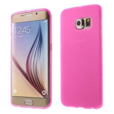 Flexibelt Rödrosa Skal till Samsung Galaxy S6 Edge G925