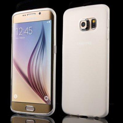 Flexibelt Vit Skal till Samsung Galaxy S6 Edge G925