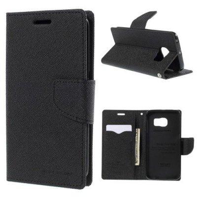 Plånboksfodral Fancy Diary till Samsung Galaxy S6 Edge - Svart