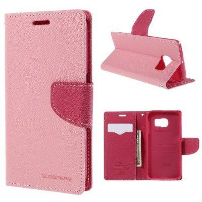 Plånboksfodral Fancy Diary till Samsung Galaxy S6 Edge - Rosa