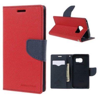 Plånboksfodral Fancy Diary till Samsung Galaxy S6 Edge - Röd