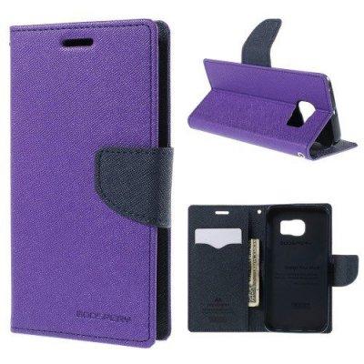 Plånboksfodral Fancy Diary till Samsung Galaxy S6 Edge - Lila