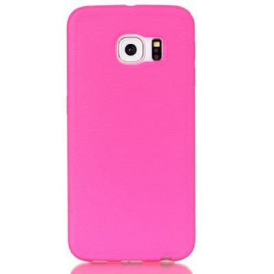 Mjukt Skal till Samsung Galaxy S6 Edge - Rödrosa