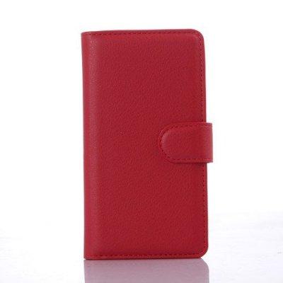 Plånboksfodral Litchi till LG C70 Spirit - Röd
