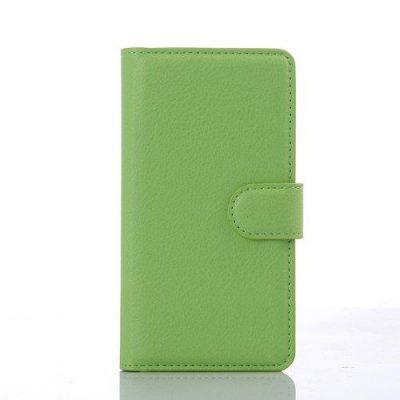 Plånboksfodral Litchi till LG C70 Spirit - Grön