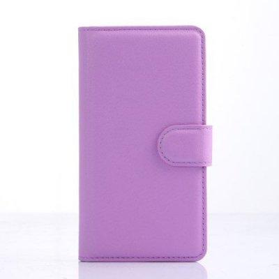 Plånboksfodral Litchi till LG C70 Spirit - Lila