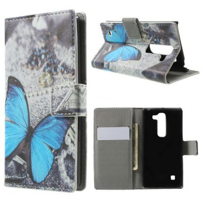 Plånboksfodral till LG C70 Spirit H440 - Blue Butterfly