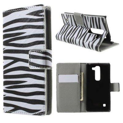 Plånboksfodral till LG C70 Spirit H440 - Zebra