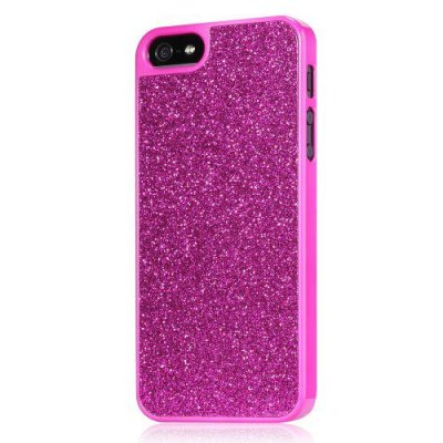 Glitterskal till iPhone 5/5S - Rödrosa