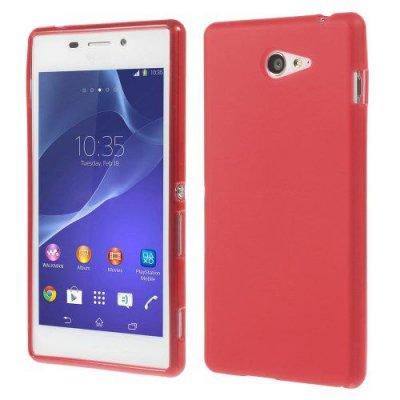 Sony Xperia M2 TPU Skal Röd med frostad matt yta