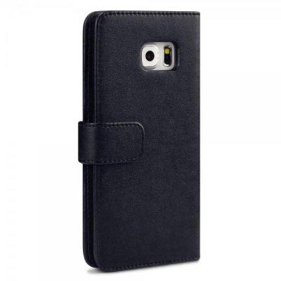 Mobilfodral Plånbok till Samsung Galaxy S6 Edge Plus - Svart
