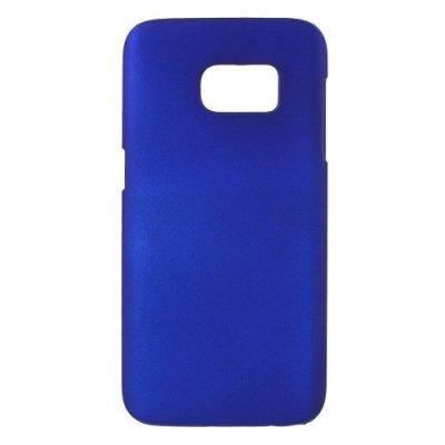 Hårt Skal till Samsung Galaxy S7 - Mörkblå skal med gummikänsla