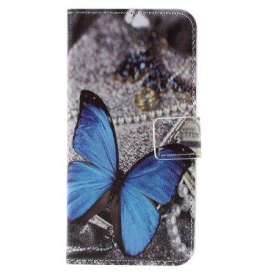 Plånboksfodral till Samsung Galaxy S7 - Blue Butterfly