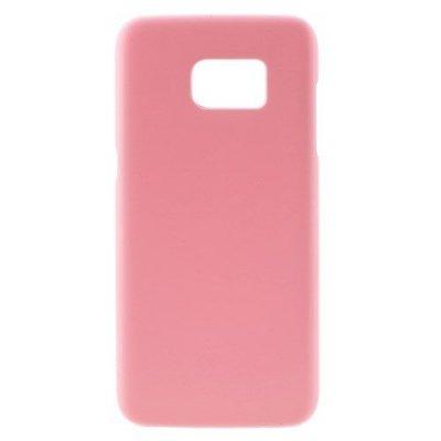 Hårt Skal till Samsung Galaxy S7 Edge - Rosa skal med gummiyta