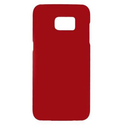 Hårt Skal till Samsung Galaxy S7 Edge - Röd skal med gummiyta