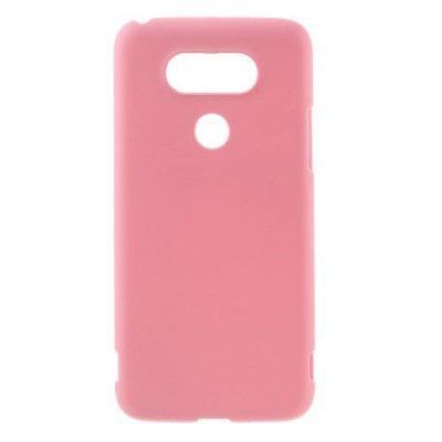 Hårt Skal till LG G5 - Rosa skal med gummiyta
