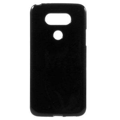 Flexibelt Skal till LG G5 - Svart TPU skal med blank yta