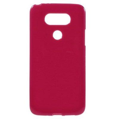 Flexibelt Skal till LG G5 - Röd TPU skal med blank yta