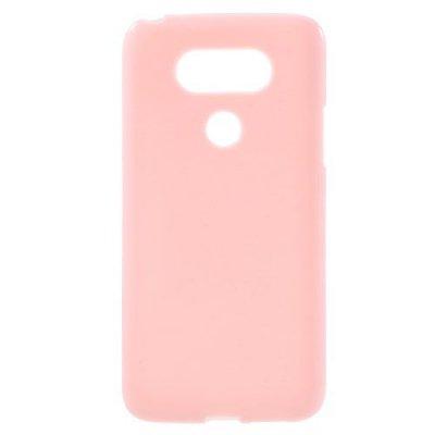 Flexibelt Skal till LG G5 - Rosa TPU skal med blank yta