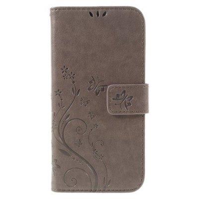 Mobilfodral till Samsung Galaxy S7 EDGE grå/brun - Fjärilar