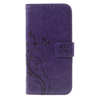 Mobilfodral till Samsung Galaxy S7 EDGE violet - Fjärilar