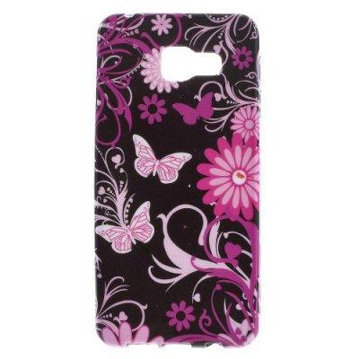 Flexibelt Skal till Samsung Galaxy A3 (2016) - Fjärilar och blommor