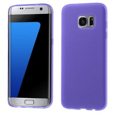 Flexibelt Skal till Samsung Galaxy S7 Edge - Lila TPU skal med matt yta