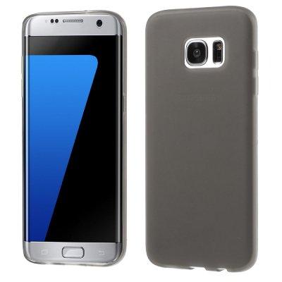Flexibelt Skal till Samsung Galaxy S7 Edge - Grå TPU skal med matt yta