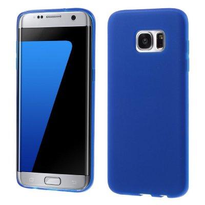Flexibelt Skal till Samsung Galaxy S7 Edge - Blå TPU skal med matt yta