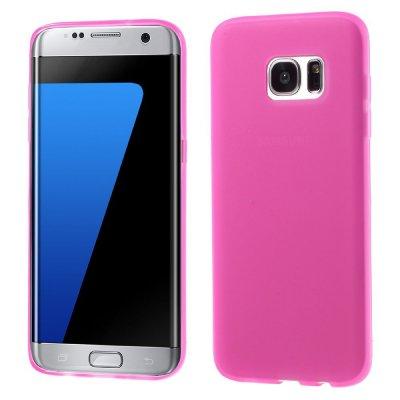 Flexibelt Skal till Samsung Galaxy S7 Edge - Rödrosa TPU skal med matt yta