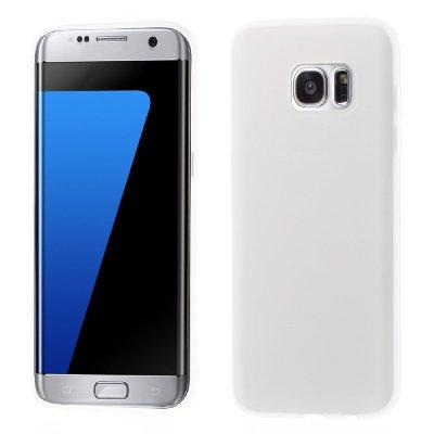 Flexibelt Skal till Samsung Galaxy S7 Edge - Vit TPU skal med matt yta