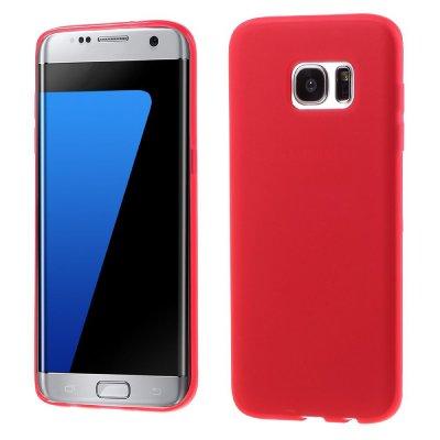 Flexibelt Skal till Samsung Galaxy S7 Edge - Röd TPU skal med matt yta