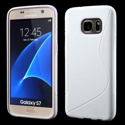 Flexibelt S-Design Skal till Samsung Galaxy S7 - Vit
