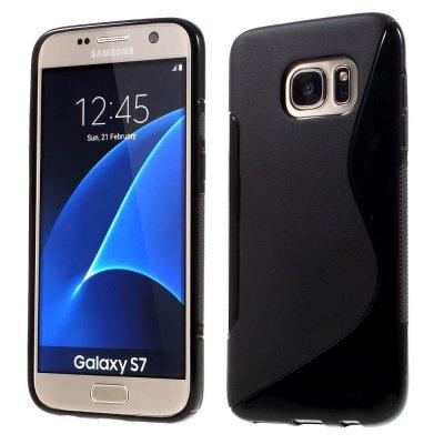 Flexibelt S-Design Skal till Samsung Galaxy S7 - Svart