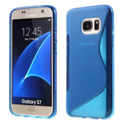 Flexibelt S-Design Skal till Samsung Galaxy S7 - Blå