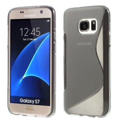 Flexibelt S-Design Skal till Samsung Galaxy S7 - Grå