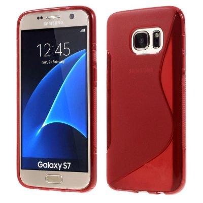 Flexibelt S-Design Skal till Samsung Galaxy S7 - Röd