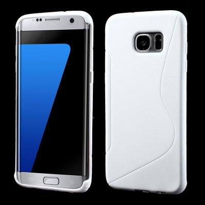 Flexibelt S-Design Skal till Samsung Galaxy S7 Edge - Vit