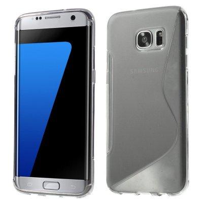 Flexibelt S-Design Skal till Samsung Galaxy S7 Edge - Grå