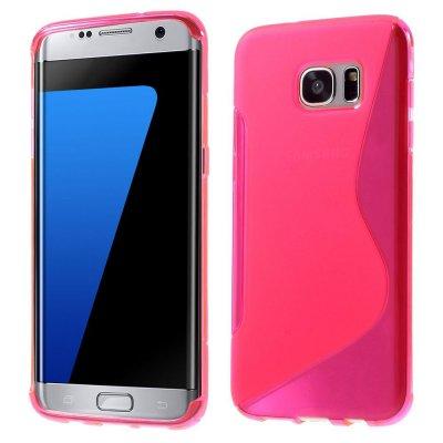 Flexibelt S-Design Skal till Samsung Galaxy S7 Edge - Rödrosa