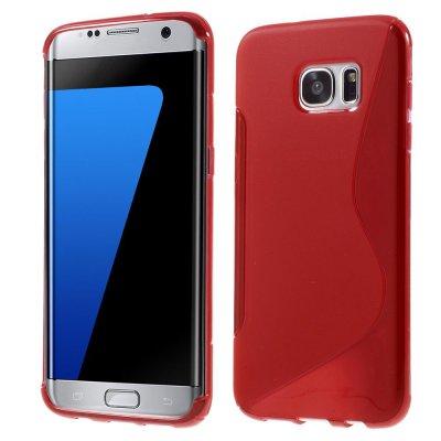 Flexibelt S-Design Skal till Samsung Galaxy S7 Edge - Röd
