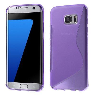 Flexibelt S-Design Skal till Samsung Galaxy S7 Edge - Lila