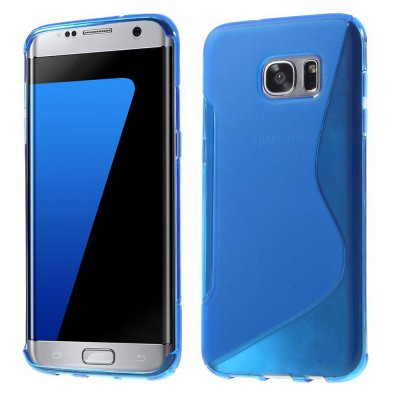 Flexibelt S-Design Skal till Samsung Galaxy S7 Edge - Blå
