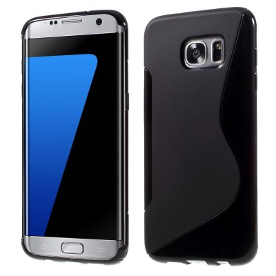 Flexibelt S-Design Skal till Samsung Galaxy S7 Edge - Svart
