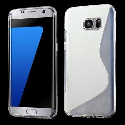 Flexibelt S-Design Skal till Samsung Galaxy S7 Edge - Transparant