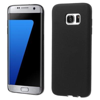 Flexibelt Skal till Samsung Galaxy S7 Edge - Svart TPU skal med matt yta