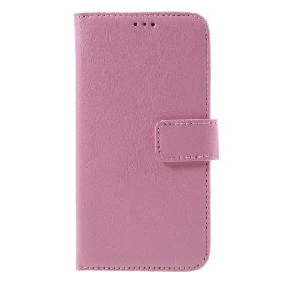 Mobilfodral Plånbok till Samsung Galaxy S7 - Rosa litchi