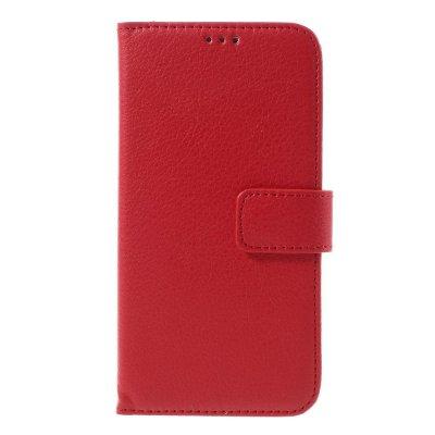 Mobilfodral Plånbok till Samsung Galaxy S7 - Röd litchi
