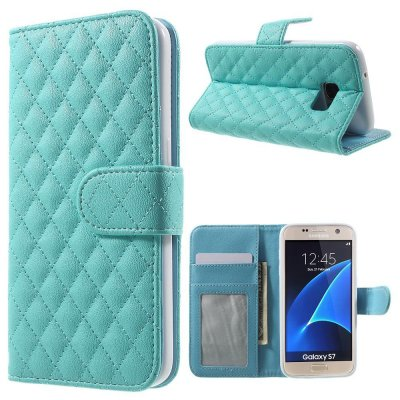 Mobilfodral blå till Samsung Galaxy S7 - Quiltmönster